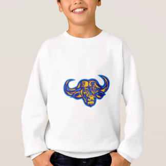 Cape Buffalo Head Retro Sweatshirt