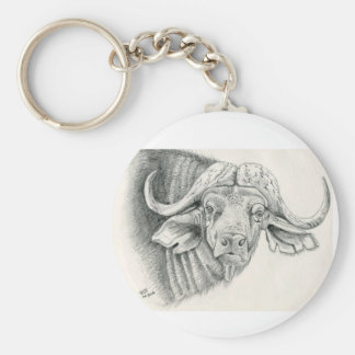 Cape Buffalo wildlife key ring