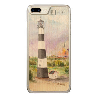Cape Canaveral Lighthouse Rocket Launch Watercolor Carved iPhone 7 Plus Case