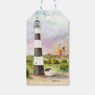 Cape Canaveral Lighthouse Rocket Launch Watercolor Pack Of Gift Tags