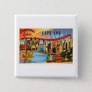 Cape Cod #2 Massachusetts MA Old Travel Souvenir 2 Inch Square Button