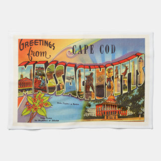 Cape Cod #2 Massachusetts MA Old Travel Souvenir Towels