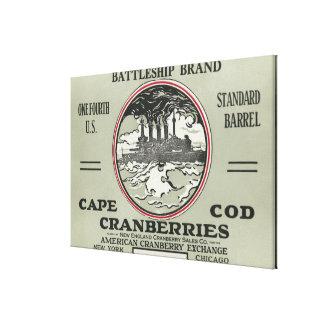 Cape Cod Battleship Brand Cranberry Label Canvas Print