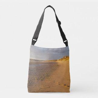 Cape Cod Bay Sand Flats Sunset Crossbody Bag