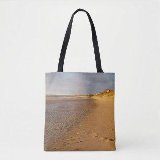 Cape Cod Bay Sand Flats Sunset Tote Bag