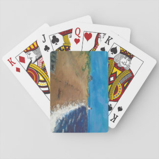 Cape Cod beach at dusk Playing Cards