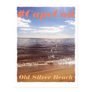 Cape Cod beach postcard, vintage look, seaside Postcard