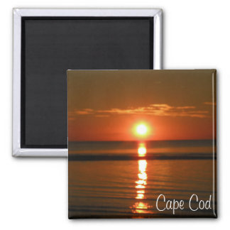Cape Cod Beach Red unset Photo Magnet
