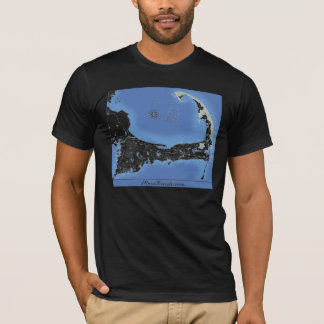 Cape Cod Beaches Map T-Shirt