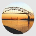 Cape Cod Bourne Bridge Classic Round Sticker