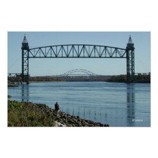 Cape Cod Canal Bridges Photograph Poster