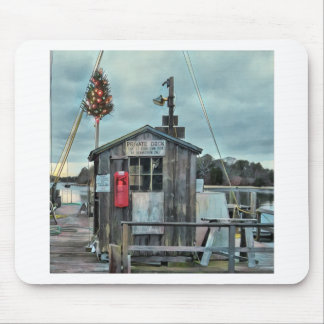Cape Cod Christmas Harbor Gifts and Ornaments Mouse Pad
