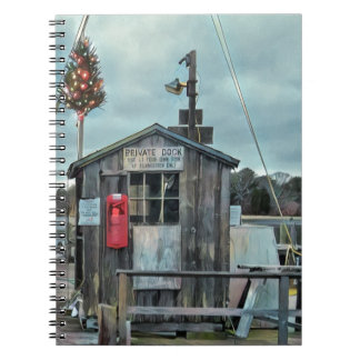 Cape Cod Christmas Harbor Gifts and Ornaments Notebooks