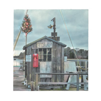 Cape Cod Christmas Harbor Gifts and Ornaments Notepad