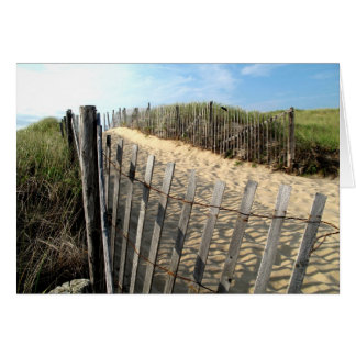 Cape Cod Dune Fencing Card