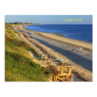 Cape Cod Great Hollow Corn Hill Bay Beach View Postcard