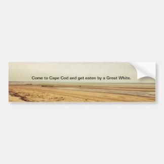 Cape Cod/Great White bumper sticker. Bumper Sticker
