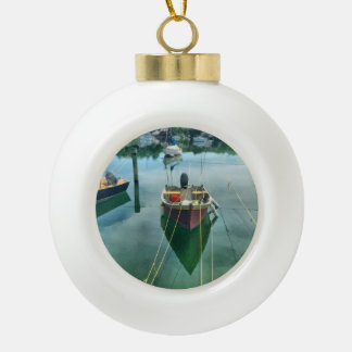 Cape Cod Harbor Christmas Tree Ornament