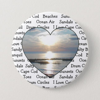 Cape Cod Heart Button