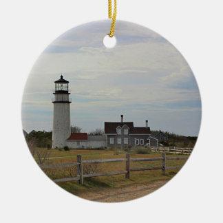 Cape Cod Light Ceramic Ornament