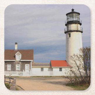 Cape Cod Light Square Paper Coaster