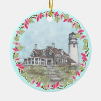 Cape Cod Lighthouse Ceramic Ornament