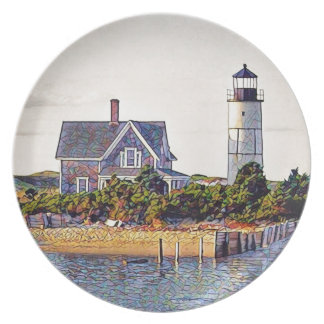 Cape Cod Lighthouse Gift Dinner Plate