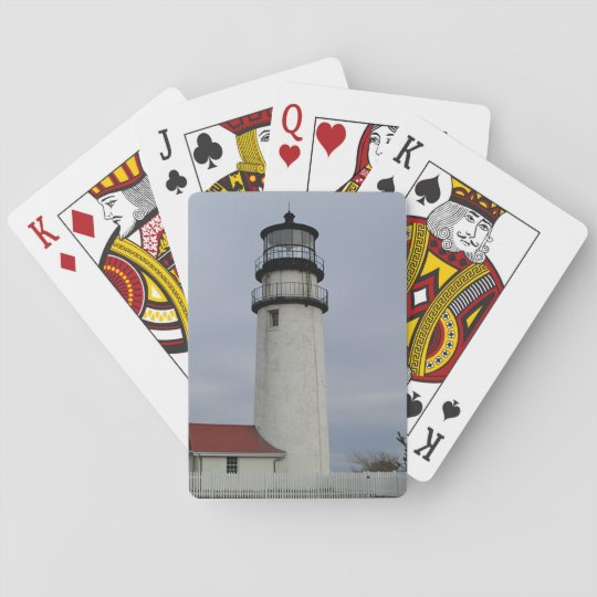 Cape Cod lighthouse Playing Cards