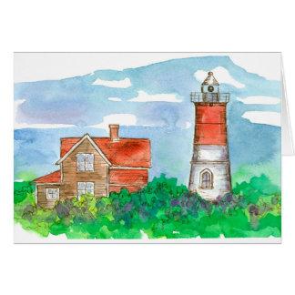 Cape Cod Lighthouse Sketch Blank Card