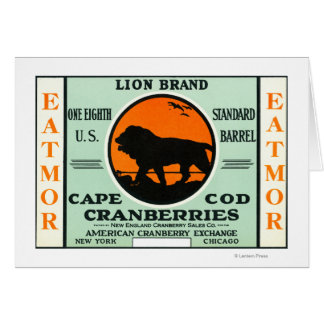 Cape Cod Lion Eatmor Cranberries Brand Label Card