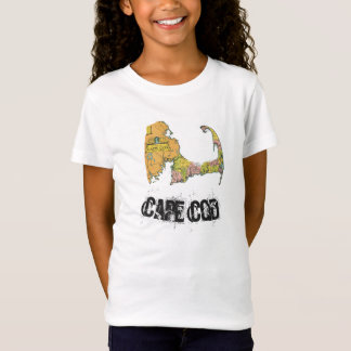 Cape Cod Map Girl's Shirt