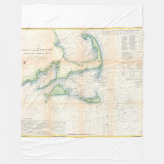 Cape Cod, Martha's Vineyard, Nantucket Fleece Blanket