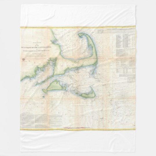 Cape Cod, Martha's Vineyard, Nantucket Fleece Blanket