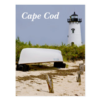 Cape Cod Mass  Edgartown Lighthouse Post Card