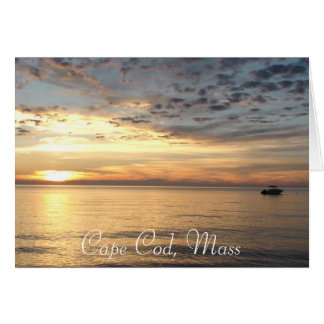 "Cape Cod, Mass. Ocean Sunset ""Thinking of You"" Card"