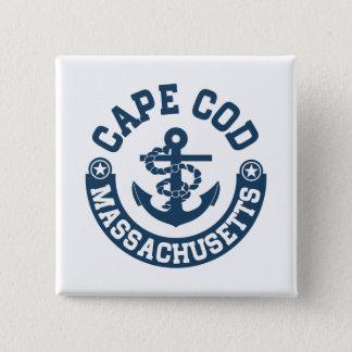 Cape Cod Massachusetts 2 Inch Square Button
