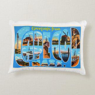 Cape Cod Massachusetts MA Vintage Travel Souvenir Accent Pillow