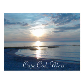 Cape Cod, Massachusetts Ocean Sunset Postcard