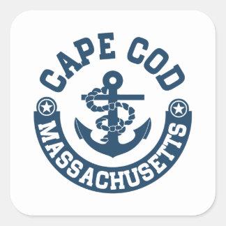 Cape Cod Massachusetts Square Sticker