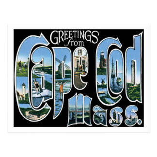Cape Cod Massachusetts Travel America US City Postcard