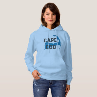 "Cape Cod Massachusetts ""University Style"", blue Hoodie"