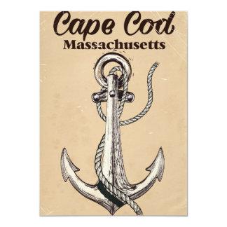 Cape Cod Massachusetts Vintage travel poster Card