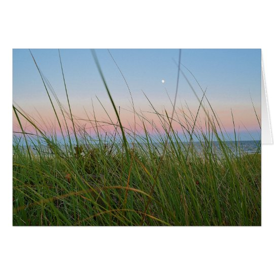 Cape Cod Moonrise Greeting Card