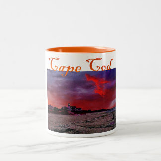 Cape Cod Mug: Red Dawn Two-Tone Coffee Mug