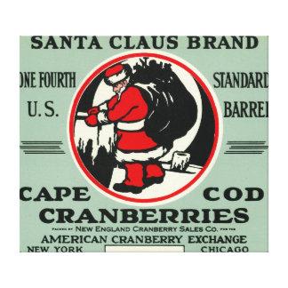 Cape Cod Santa Claus Brand Cranberry Label Canvas Print