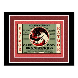 Cape Cod Santa Cranberry Postcard