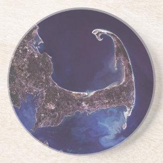 Cape Cod Satellite photograph Coaster
