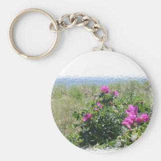Cape Cod Seashore Basic Round Button Keychain