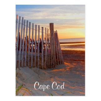 Cape Cod Sunrise Over  Beach Brewster MA Post Card