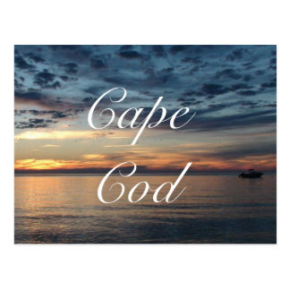 Cape Cod Sunset Ocean Postcard